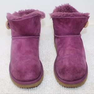 Ugg Bailey Button Short Purple Boots Size 8